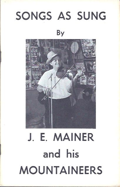 Image for Songs As Sung by J. E. Mainer and His Mountaineers