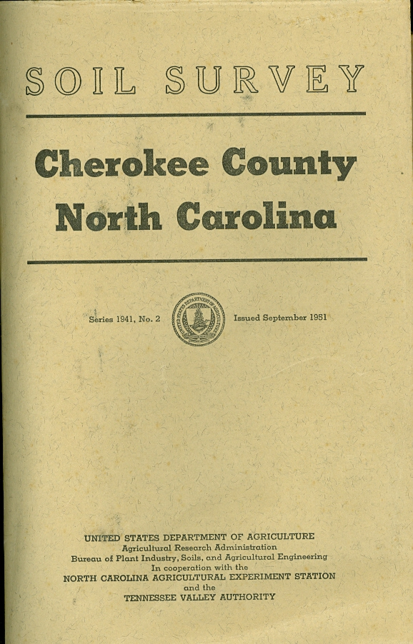 Image for Soil Survey Cherokee County, North Carolina