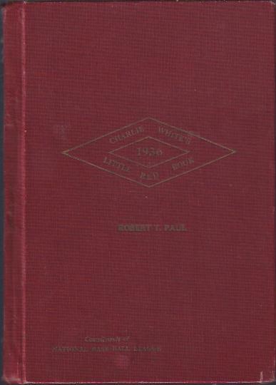 """Charlie White's """"Little Red Book"""" of Baseball, 1936"""