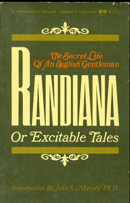 Image for Randiana or Excitable Tales The Secret Life of an English Gentleman