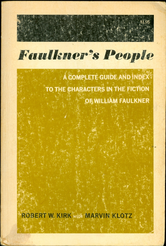 Image for Faulkner's People A Complete Guide and Index to Characters in Fiction of William Faulkner