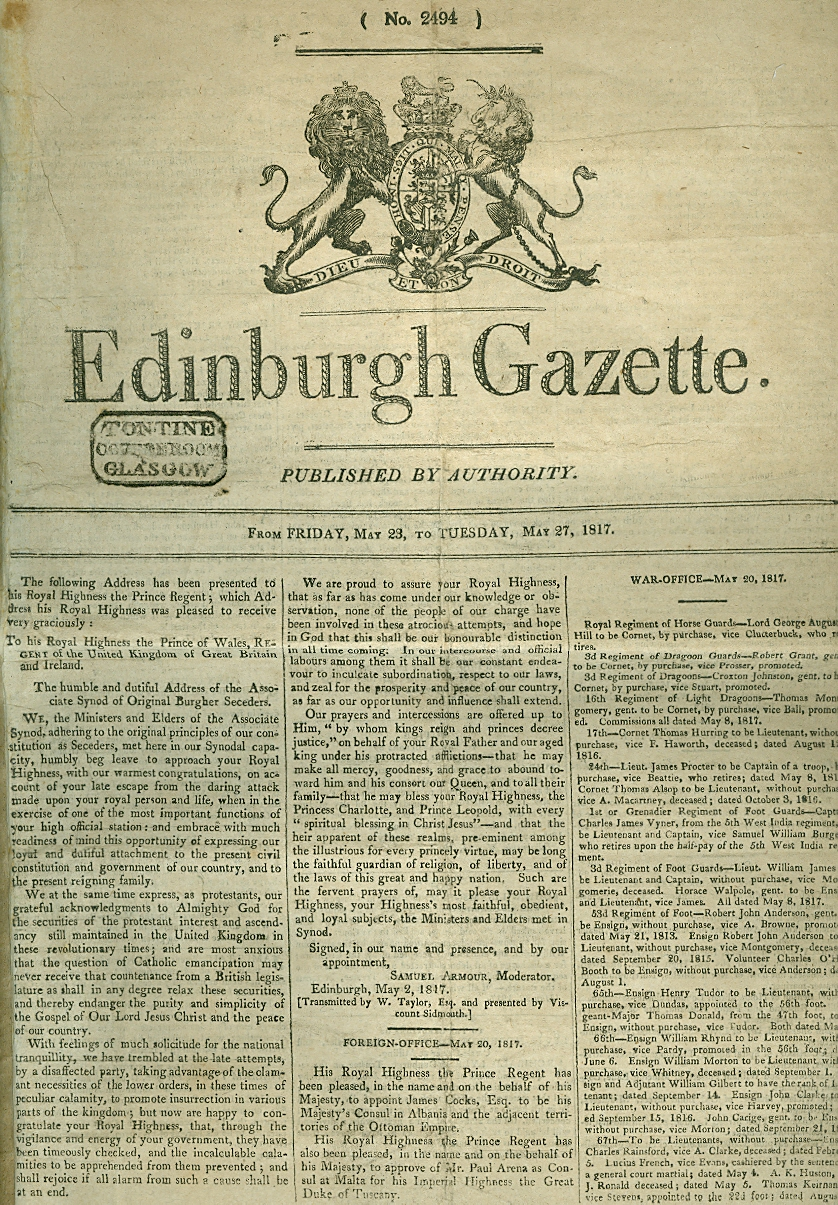 Image for Edinburgh Gazette