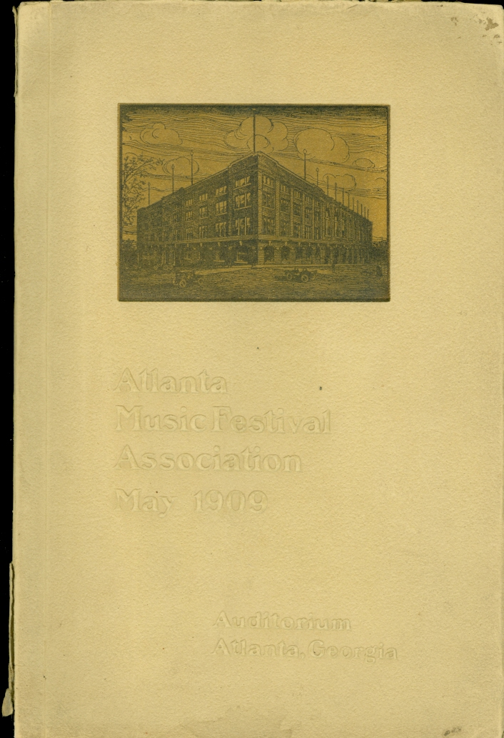 Image for Official Souvenir Program of the Atlanta Music Festival, 1909