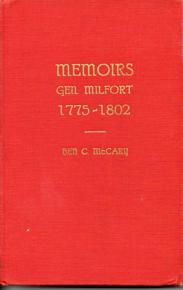 Image for Memoirs Gen. Milfort 1775-1802