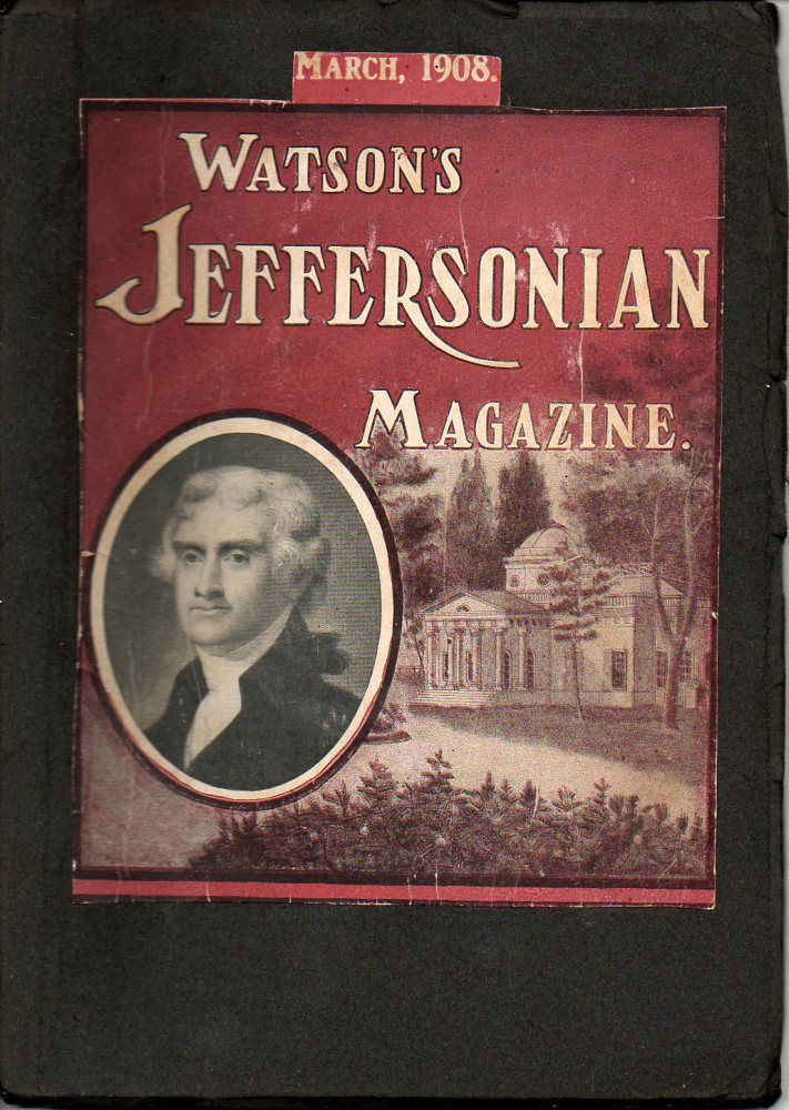 Image for Watson's Jeffersonian Magazine March 1908