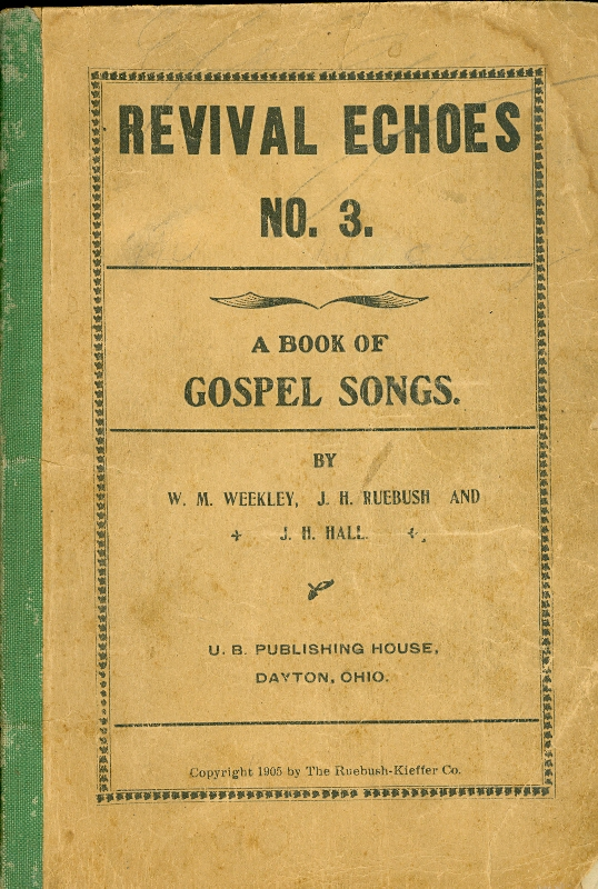 Image for Revival Echoes No. 3 A Book of Gospel Songs