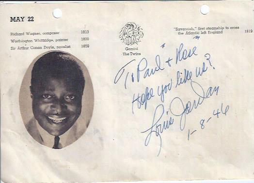 Image for Autograph with Framed Photograph of Bandleader, Louis Jordan