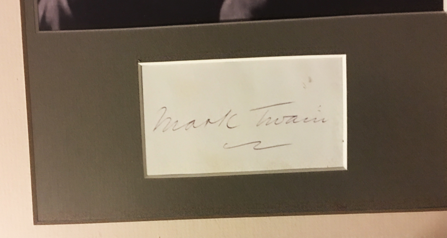 Image for Framed Mark Twain Autograph with Photograph