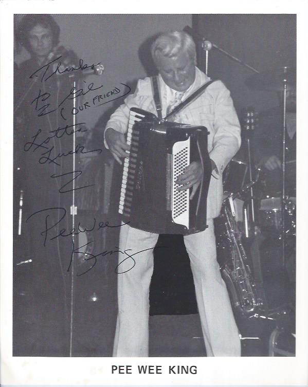 Image for Autographed Photograph of Pee Wee King