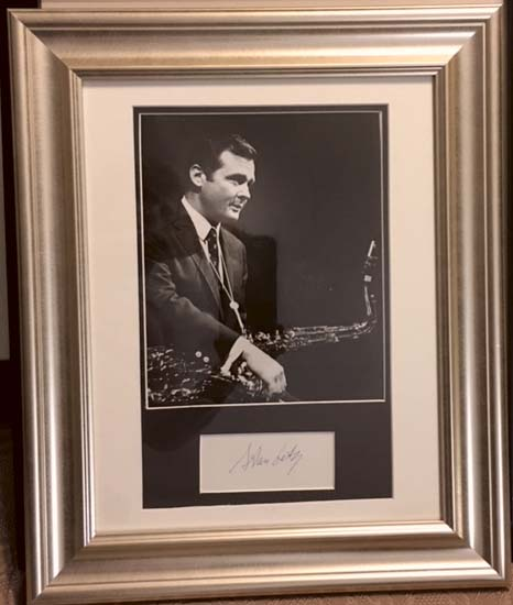 Image for Framed Autograph and Photograph of Stan Getz
