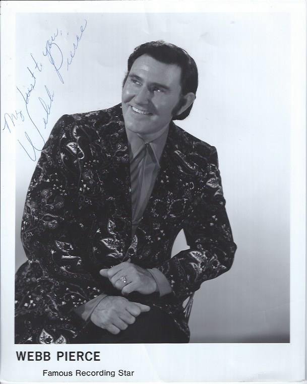 Image for Autographed Photograph of Webb Pierce