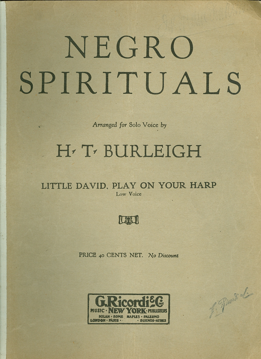 Image for Negro Spirituals: Little David, Play on Your Harp