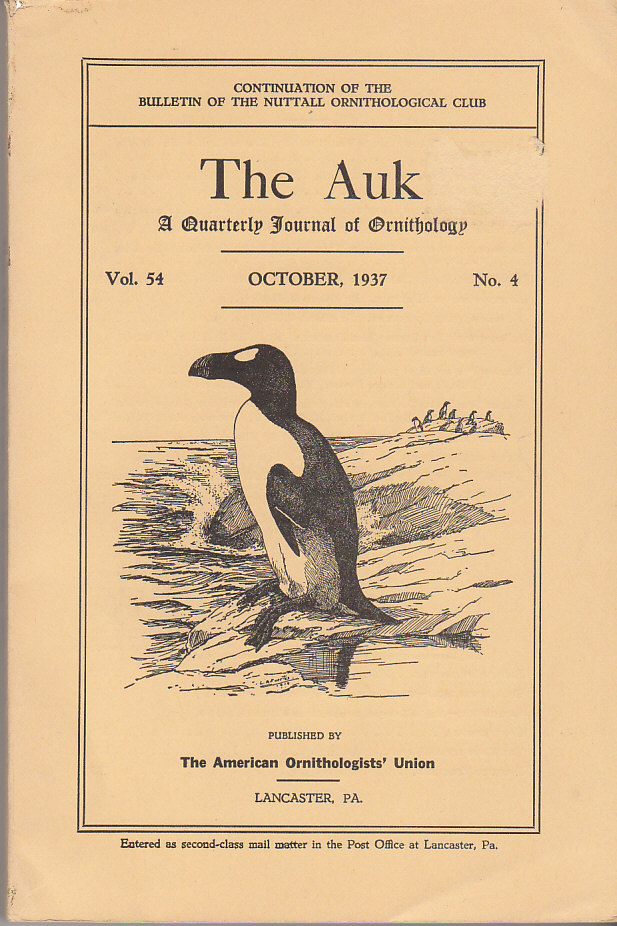 Image for The Auk A Quarterly Journal of Ornithology