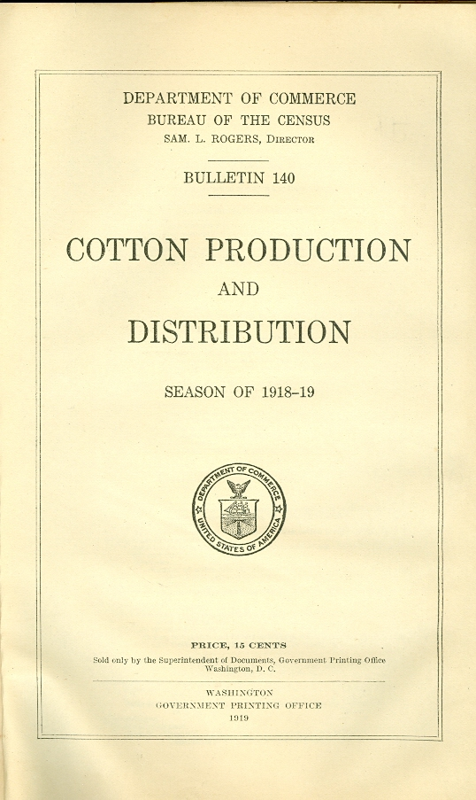 Image for Cotton Production and Distribution