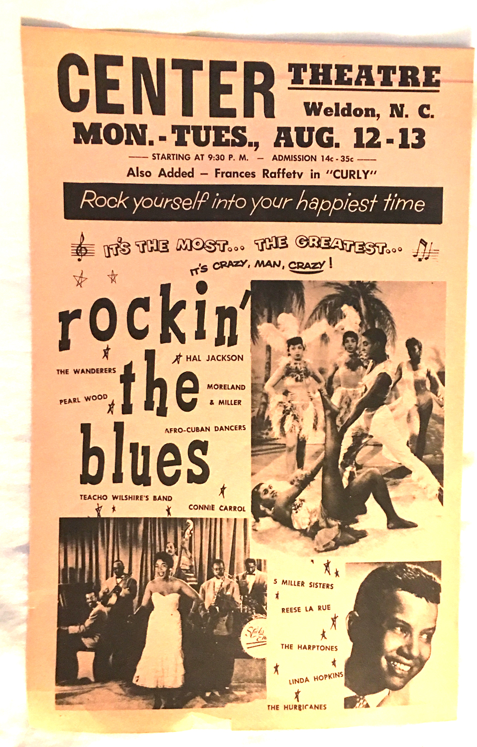 "Image for Broadside -- Rockin' The Blues Also Added -- Frances Rafferty in ""Curly"