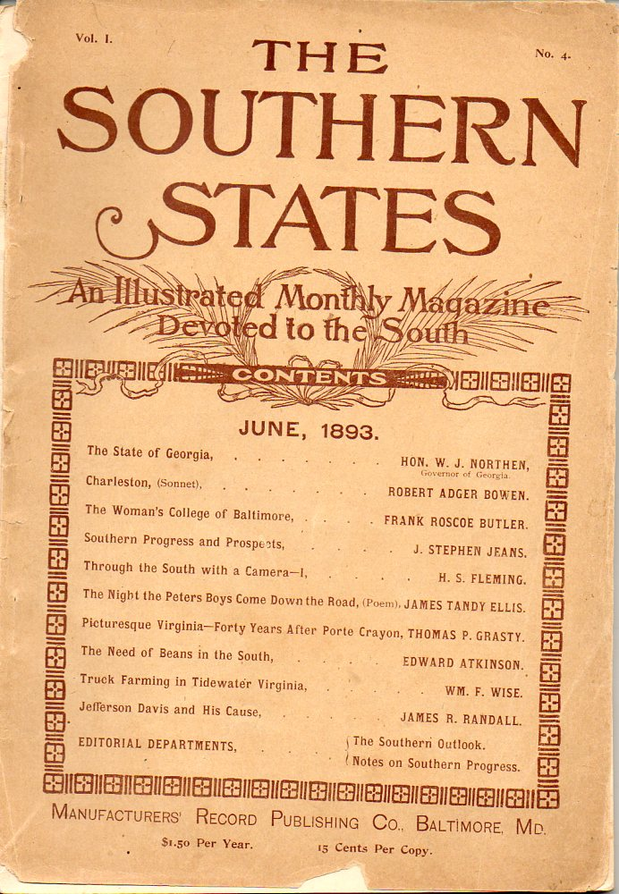 Image for The Southern States An Illustrated Monthly Magazine Devoted to the South