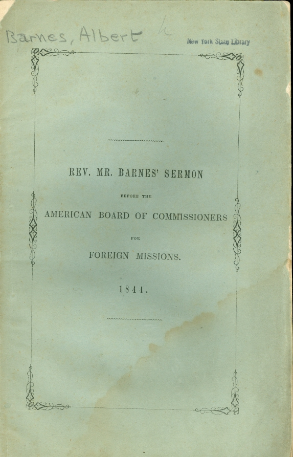 Image for A Sermon Preached in Worcester, Mass. , Sept. , 1844, before the American Board of Commissioners for Foreign Missions At Their Thirty-Fifth Annual Meeting