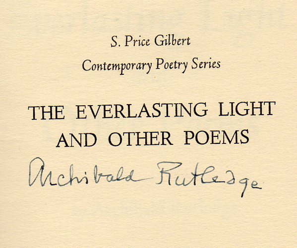 Image for The Everlasting Light and Other Poems