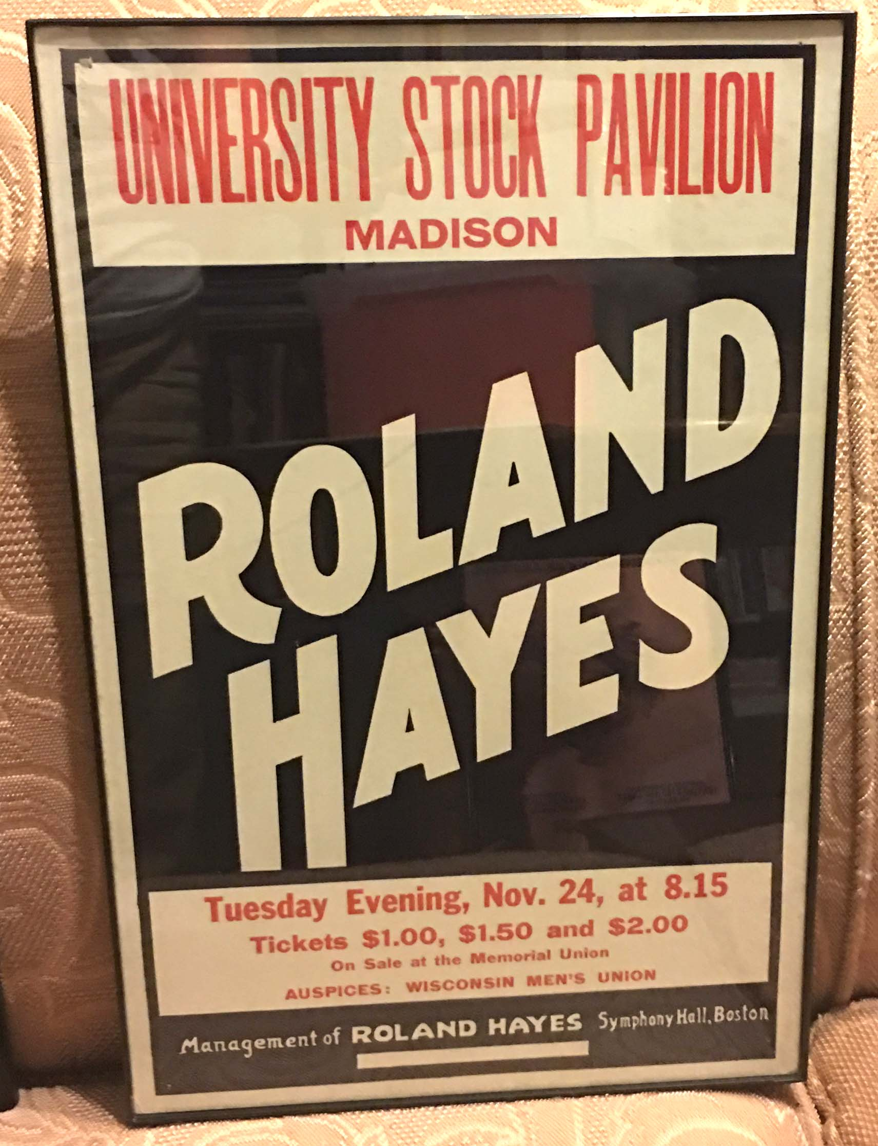 Image for Poster - Roland Hayes at University Stock Pavilion, Madison Wisconsin
